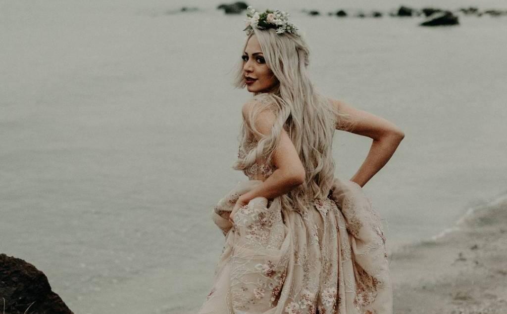 Булчинска рокля 2018 на дизайнер Поля Кинова 3