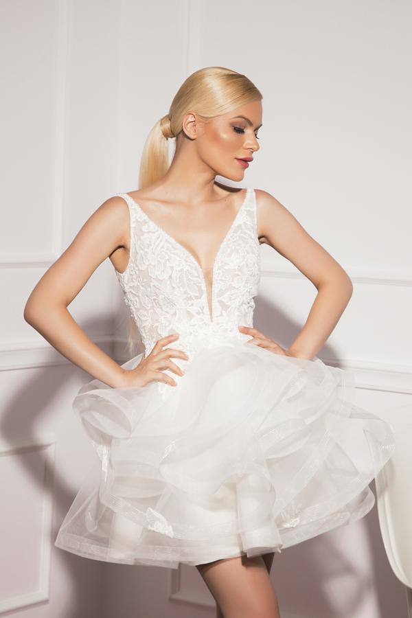 Къса сватбена рокля Cloe
