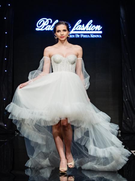 Късо дълга сватбена рокля Paris