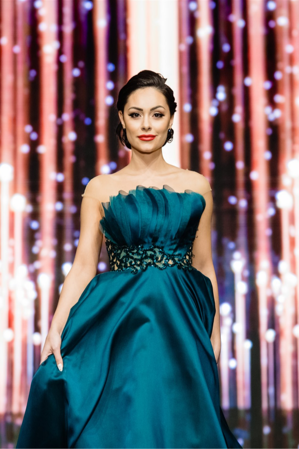 Официална рокля Emerald green 1
