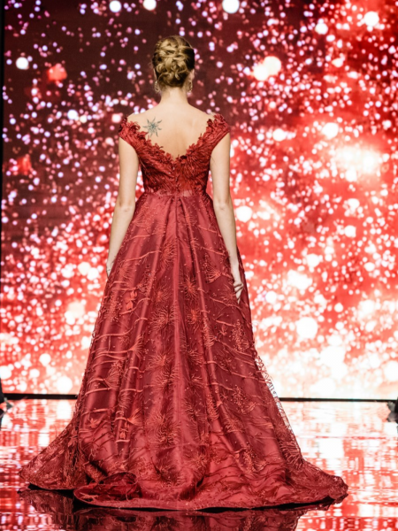 Дантелена рокля Burgundy