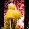 Късо-дълга рокля в жълт цвят