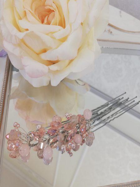 Фуркети с розов кварц