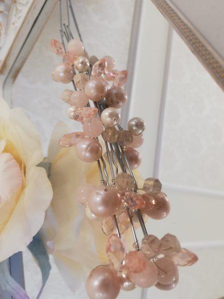 Фуркети с розови кристали