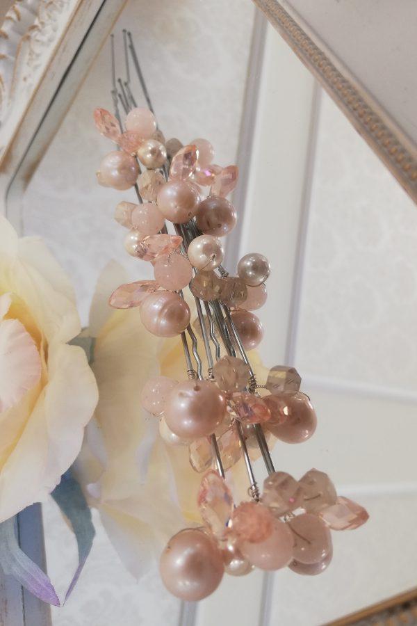 Фуркети с розови кристали 13