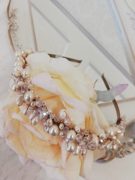 Тиара с перли