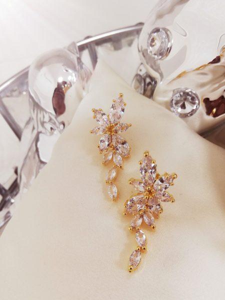 Висящи обеци с кристали 2